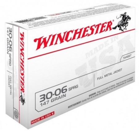 Winchester 30-06 FMJ 147grs - 20 stk