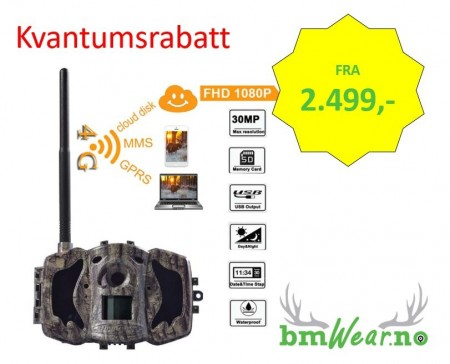 ScoutGuard MG984G-36M, 4G, 36MP, Full HD, APP styrt viltkamera