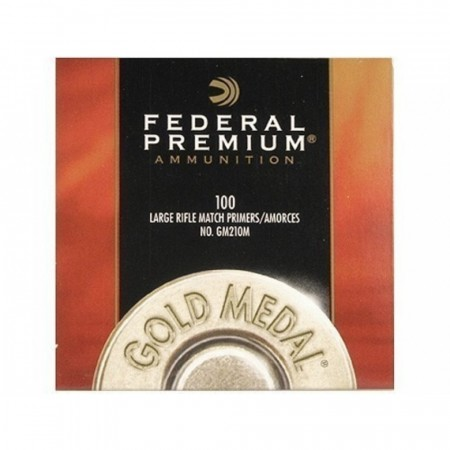 Federal GM210M Large Rifle Primers Gold Medal - 100stk