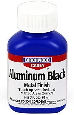 Blånering Aluminum black metal finish