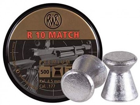 4,5mm RWS Luftkuler Rifle R10 Match - 500 stk