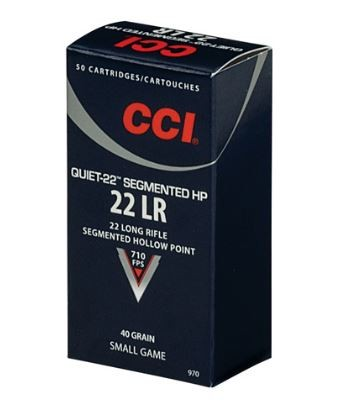 CCI 22Lr Quiet Segmented HP 40grs